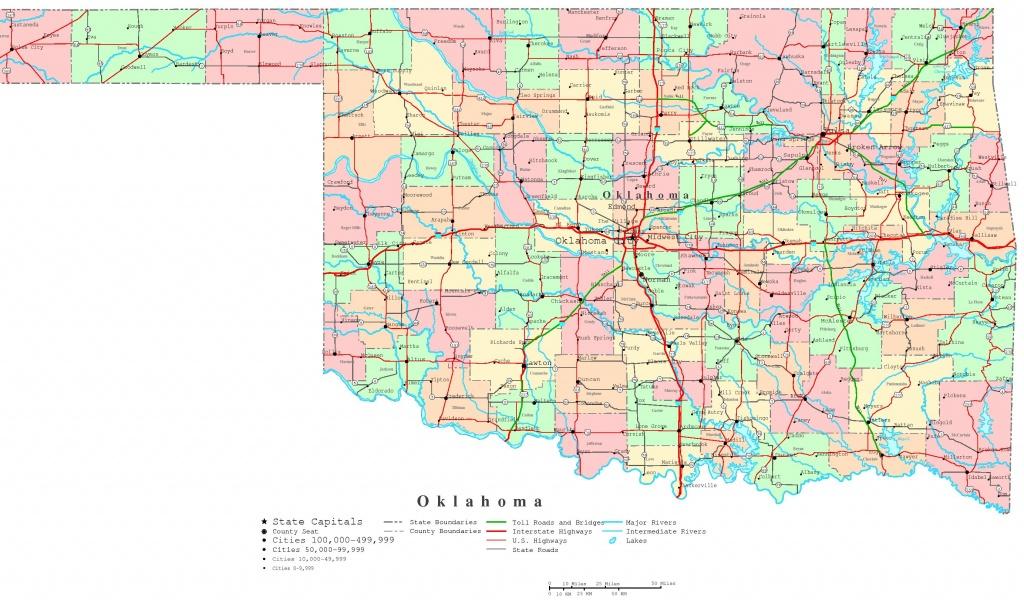 Oklahoma Printable Map - Printable Map Of Oklahoma
