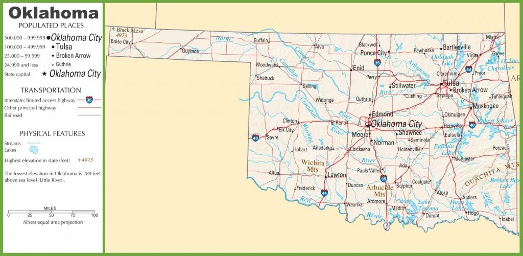 Oklahoma State Maps | Usa | Maps Of Oklahoma (Ok) - Oklahoma State Map Printable