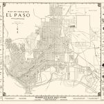 Old City Map   El Paso Texas   Western 1938   Where Is El Paso Texas On The Map