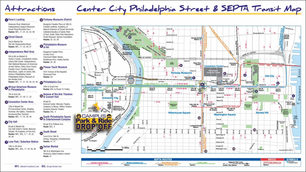 Old City Philadelphia Map And Travel Information | Download Free Old - Map Of Old City Philadelphia Printable