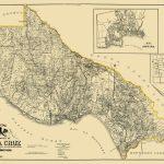 Old County Map - Santa Cruz California Landowner 1906 - Santa Cruz California Map