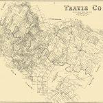 Old County Map   Travis Texas Landowner   1894   Travis County Texas Map