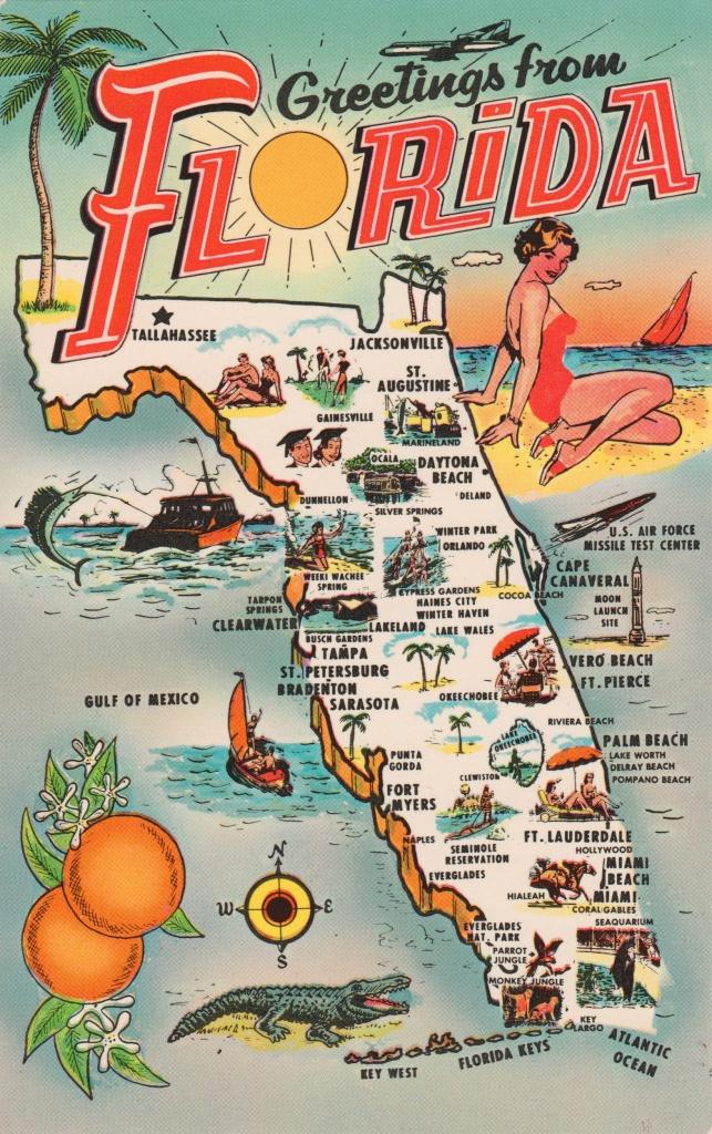 Old Florida Tourism Map : Mapporn - Florida Tourist Map