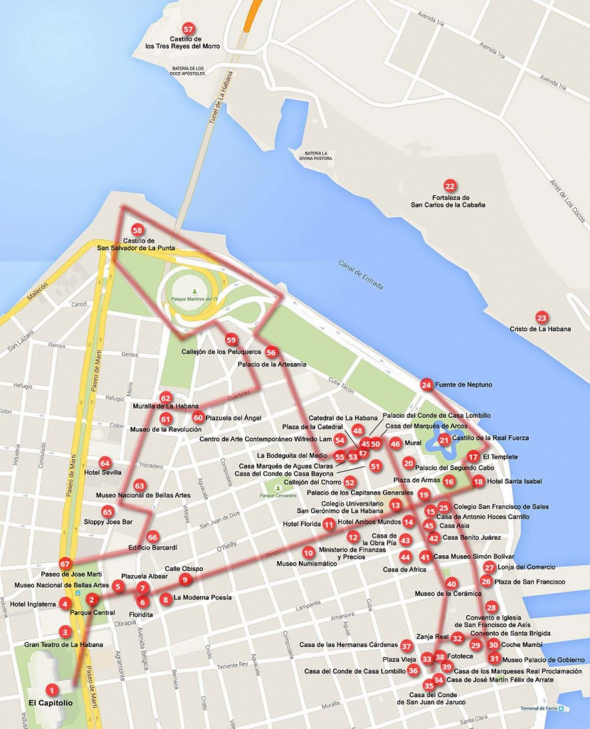 Old Havana Walking Tours (Maps+Texts) - Cuba - Cruise Critic Community - Havana City Map Printable