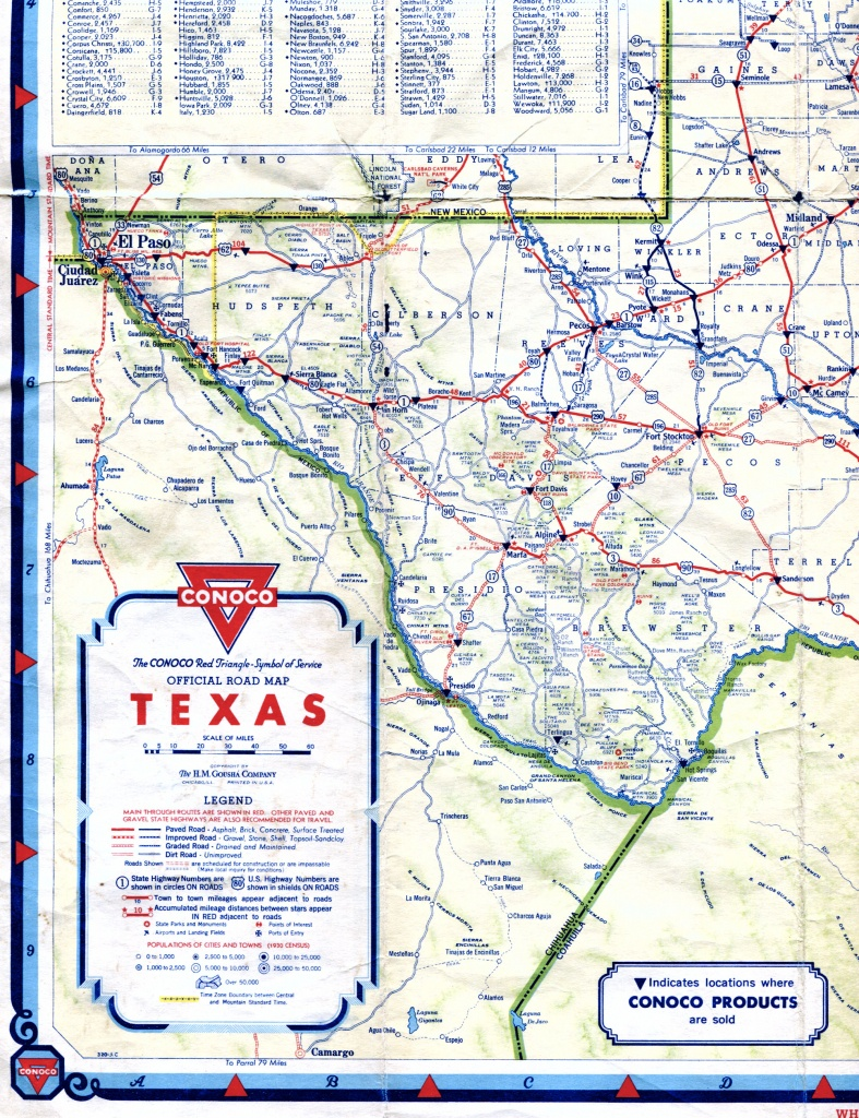 Old Highway Maps Of Texas - Road Map Of Texas Highways