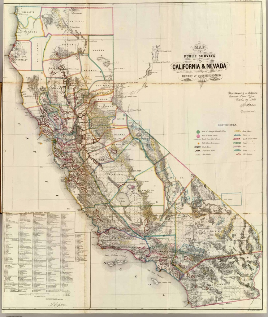 Old Historical City, County And State Maps Of California - California Hotel Map