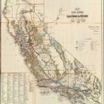 Old Historical City, County And State Maps Of California   Map Of California