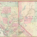 Old Historical City, County And State Maps Of California   Map Of Northern California