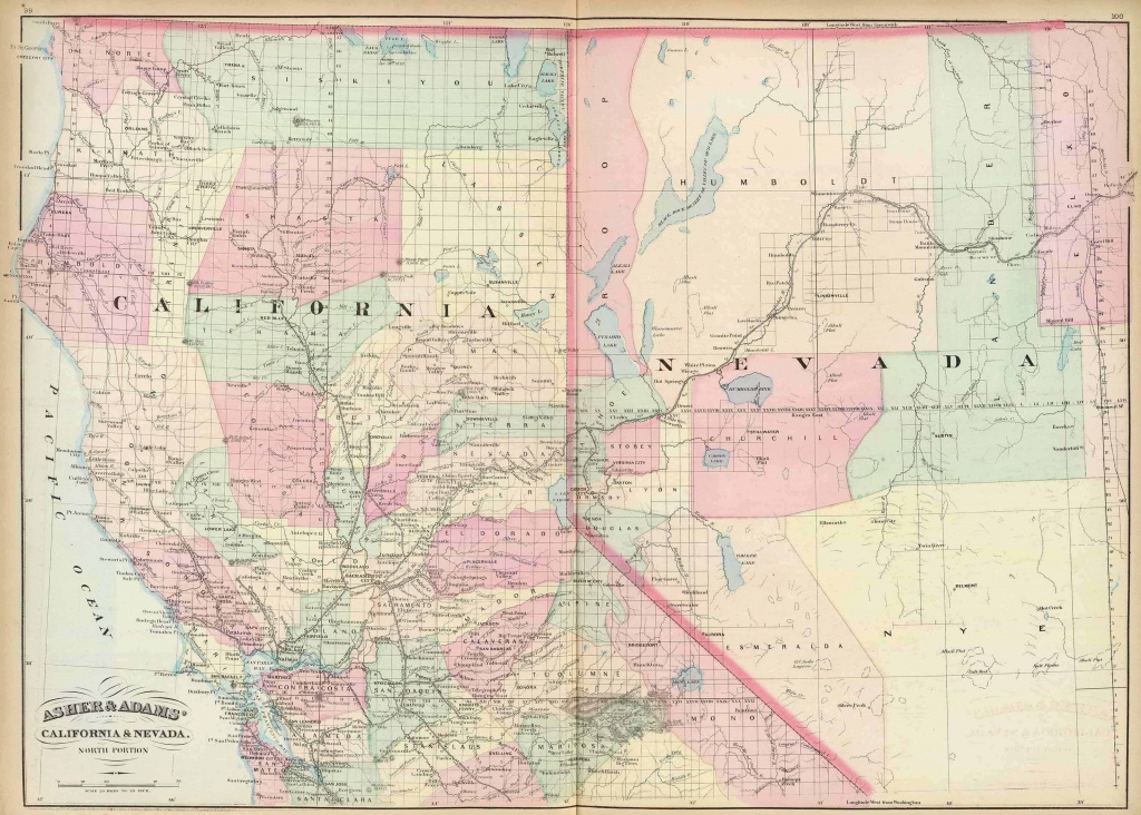Old Historical City, County And State Maps Of California - Map Of Northern California