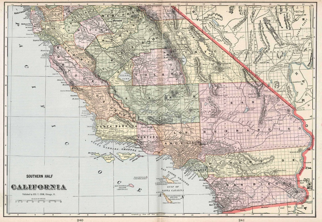 Old Historical City, County And State Maps Of California - Old Maps Of Southern California