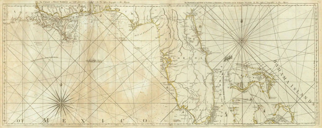 Old Historical City, County And State Maps Of Florida - Old Florida Map