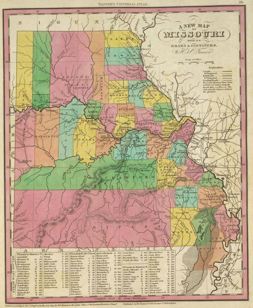 Old Historical City, County And State Maps Of Missouri - Texas County Missouri Plat Map