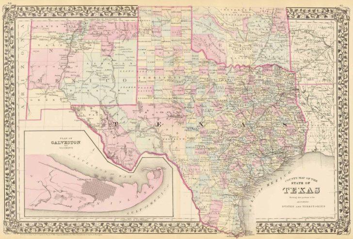 Antique Texas Maps For Sale