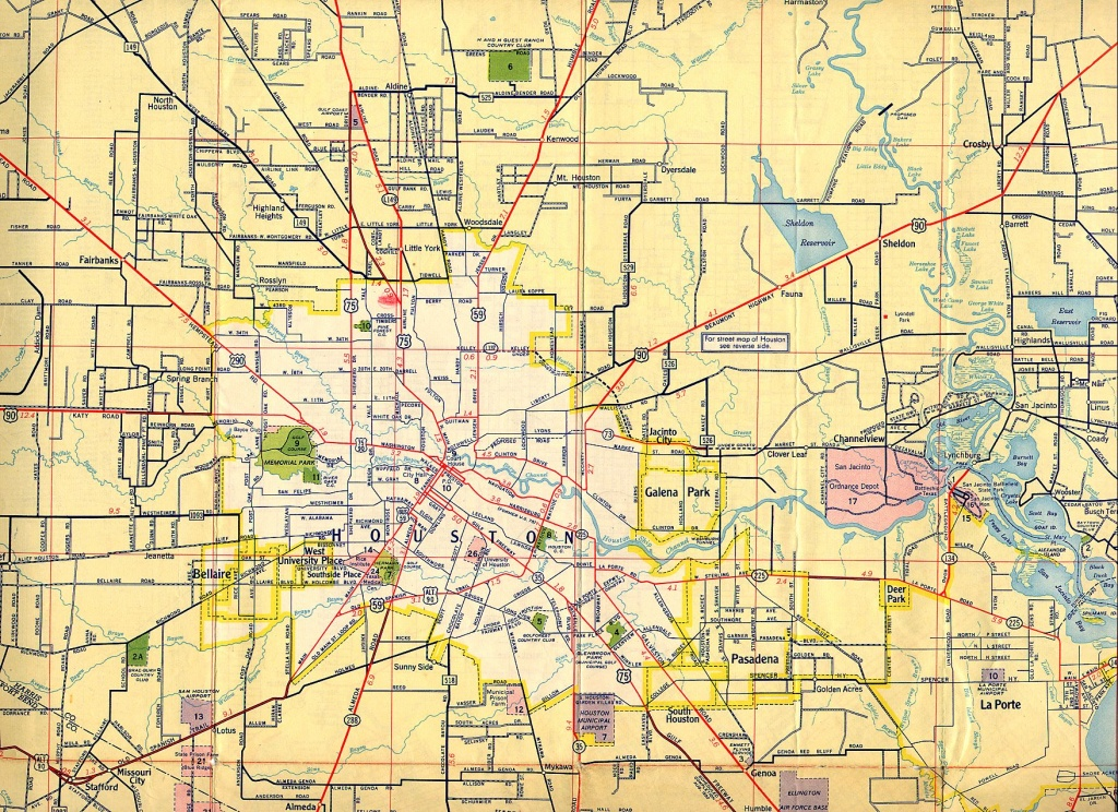 Old Houston Maps | Houston Past - Show Me Houston Texas On The Map