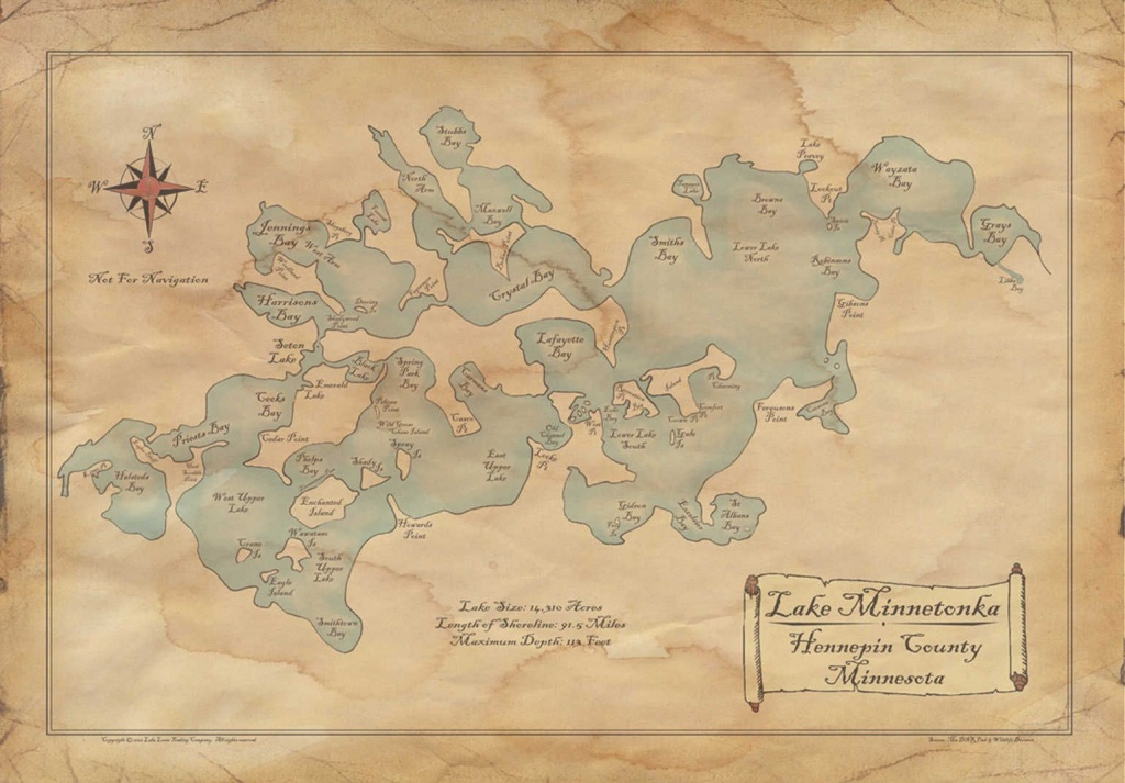 Old Lake Minnetonka Map! #ilovemn #localpride | Redstone Local - Printable Lake Minnetonka Map