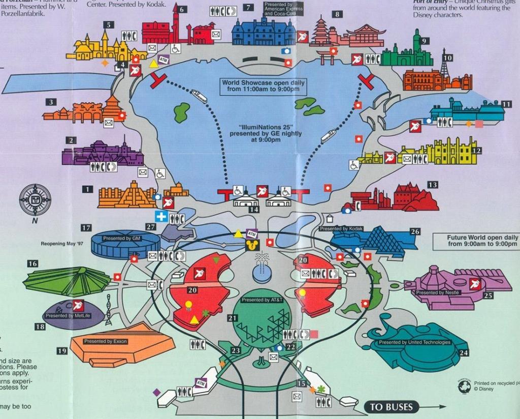 Old Map Of Epcot | Disneyworld :-) | Epcot, Disney World Map, Disney - Epcot Florida Map