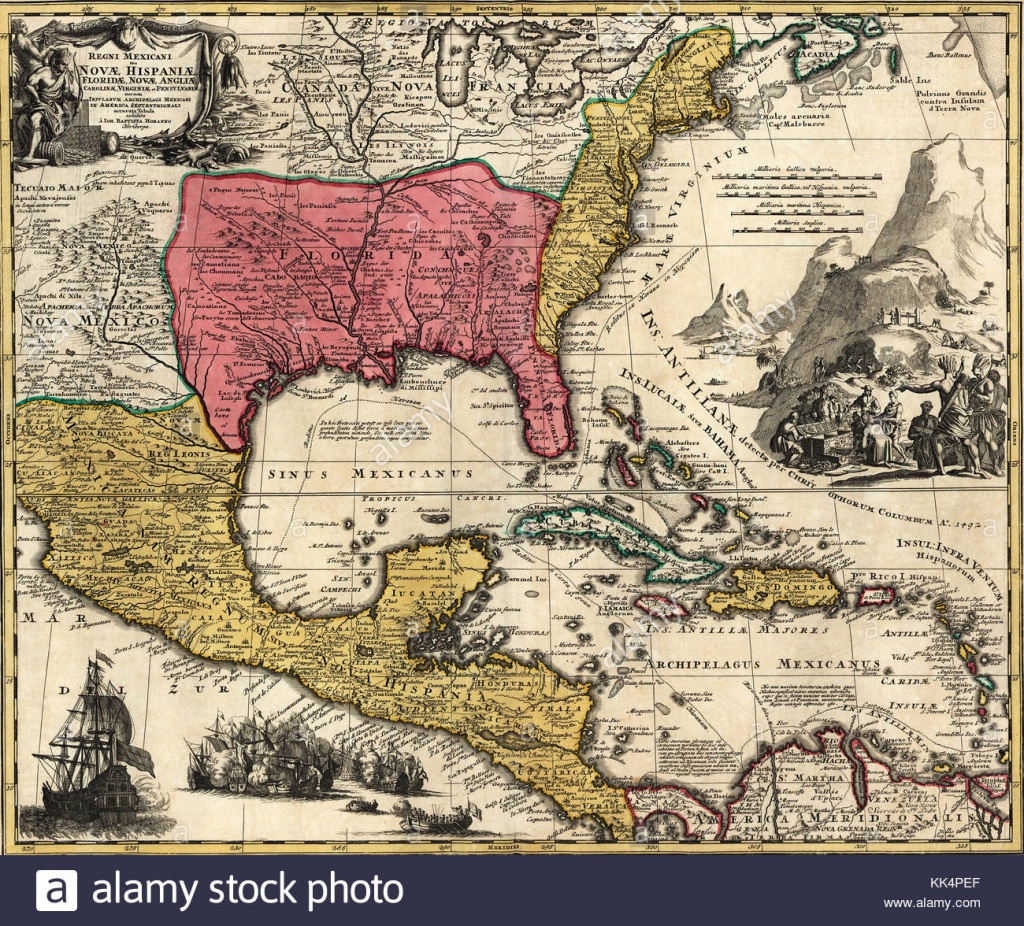 Old Map Of Florida Photos & Old Map Of Florida Images - Alamy - Florida Old Map