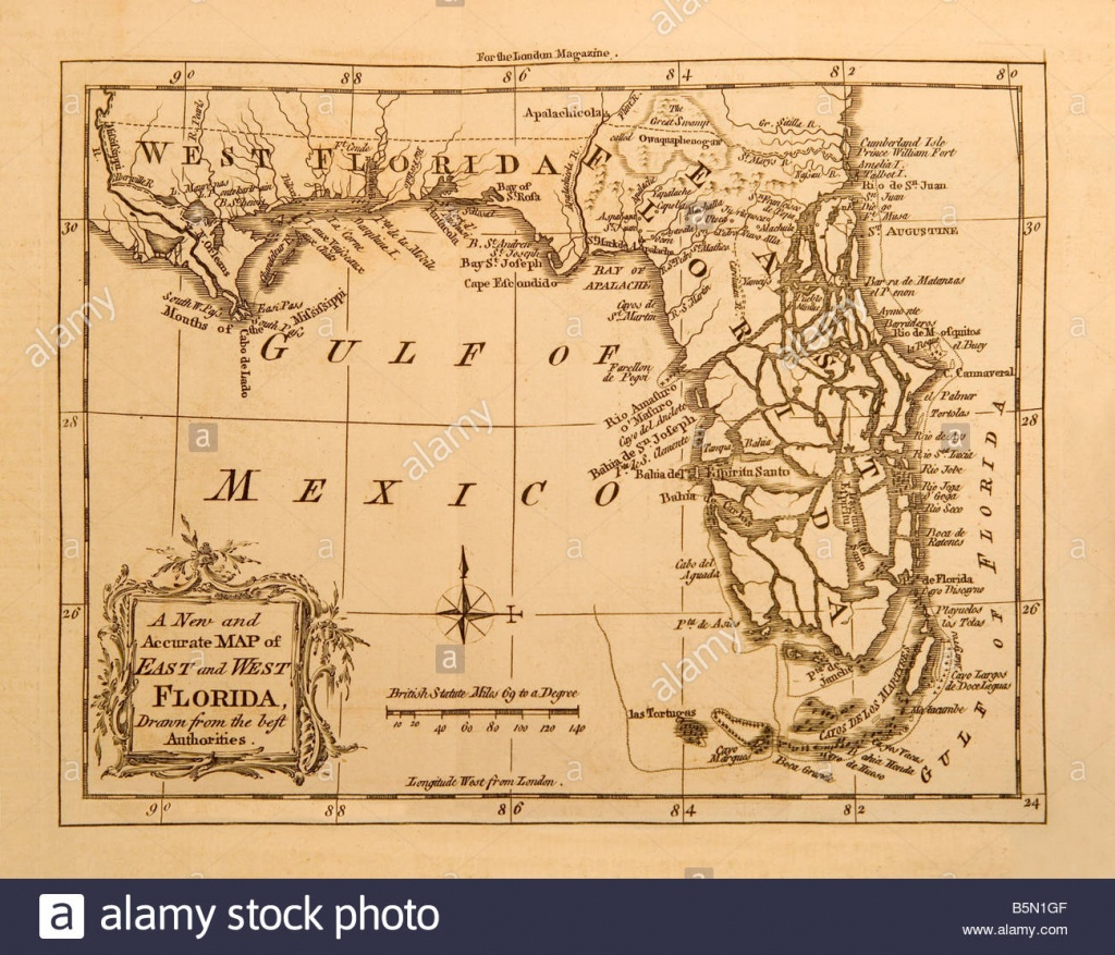 Old Map Of Florida Stock Photos & Old Map Of Florida Stock Images - Vintage Florida Maps For Sale