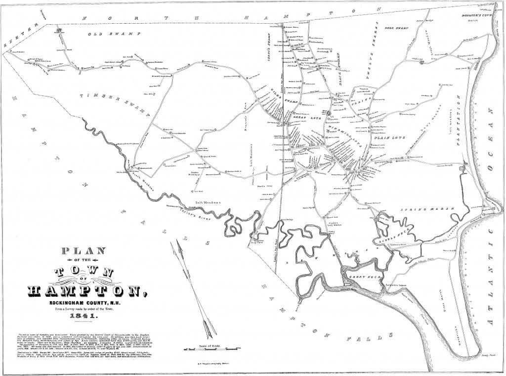 Old Maps Of Hampton, Nh   Lane Memorial Library - Printable Old Maps
