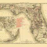 Old State Map - Florida - Rand Mcnally 1900 - Old Florida Maps Prints