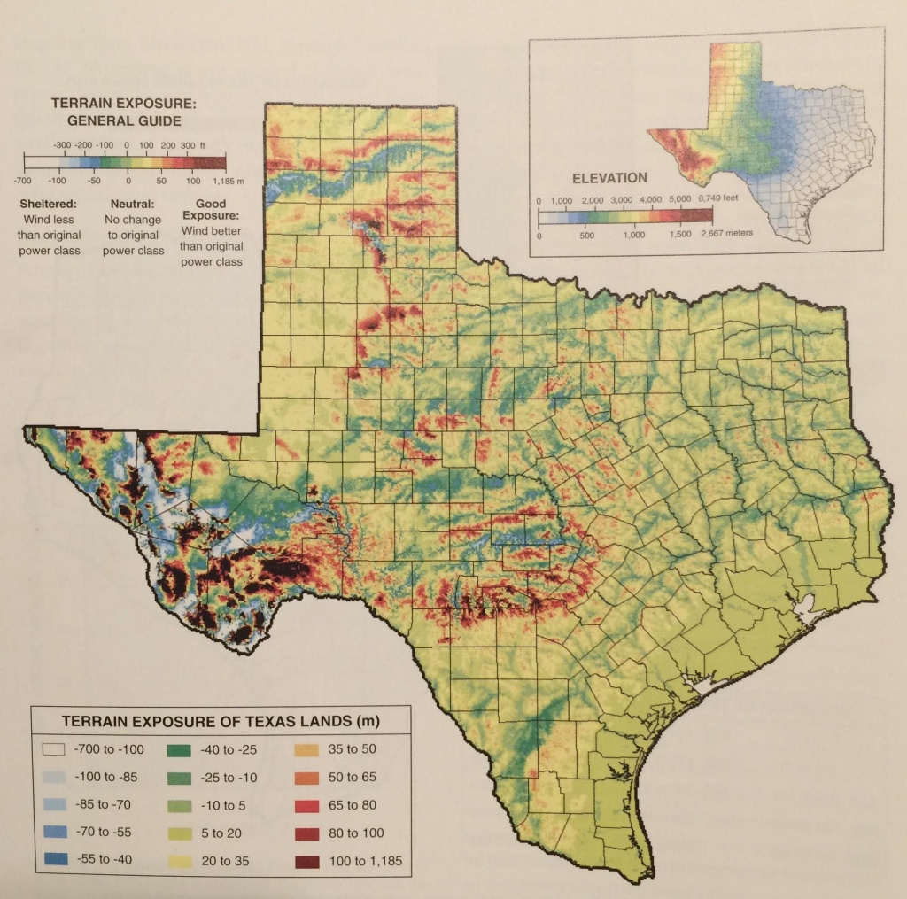Old Texas Topographic Prominence Map Shows You Where To Find The - Texas Elevation Map By County