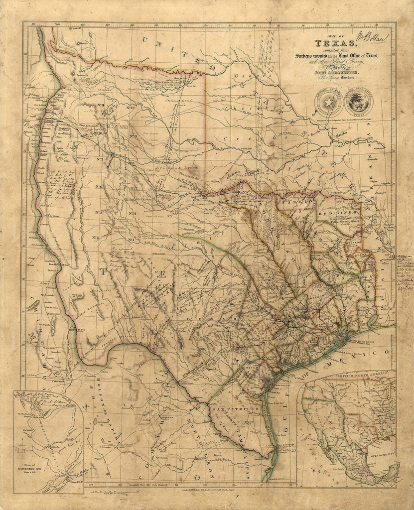Old Texas Wall Map 1841 Historical Texas Map Antique Decorator Style - Map Of Texas Art