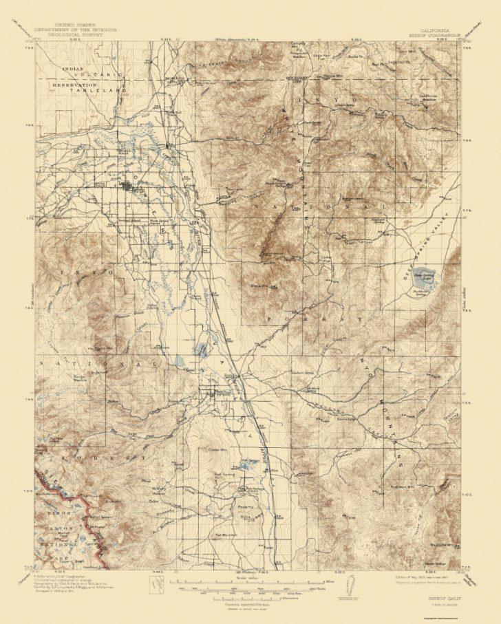 Bishop California Map