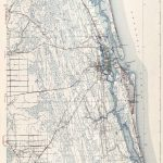 Old Topographical Map   St Augustine Florida 1943   Map Of St Johns County Florida