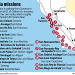 On A Mission All Her Own, She's Walking California's Royal Road   Southern California Missions Map