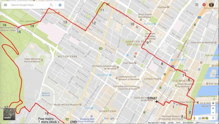 Printable Map Of Downtown Montreal