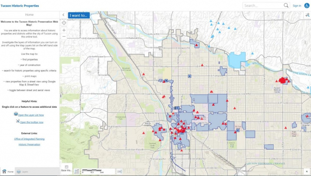 Online Resources   Official Website Of The City Of Tucson - Printable Map Of Tucson Az