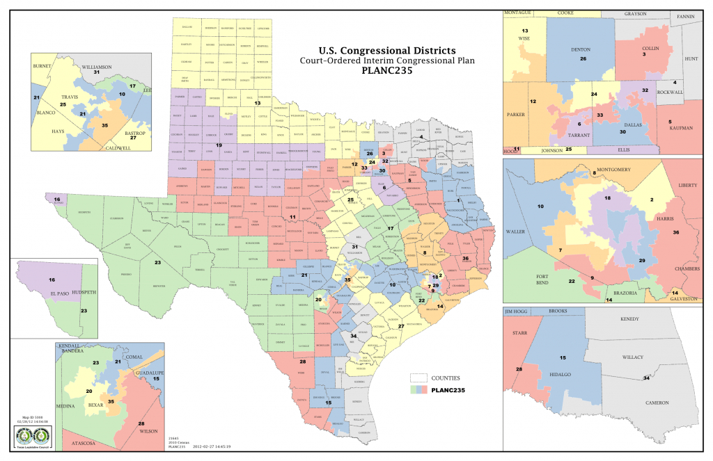 Opportunity Districts: The Unspoken Reality Of Race And - Texas Representatives Map