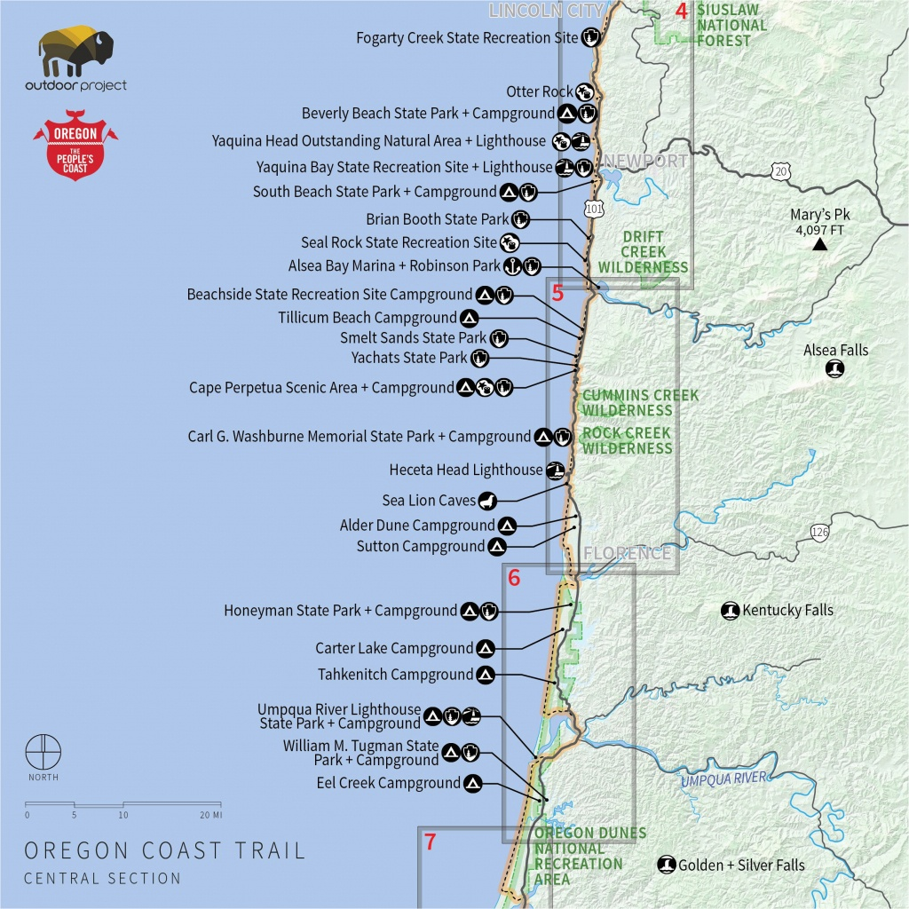 Oregon Coast Map Pdf | Secretmuseum - Oregon California Coast Map