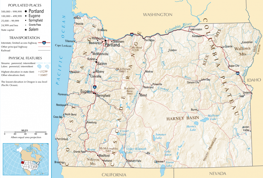 Oregon Map - Free Large Images | States | Oregon Map, Oregon Travel - Oregon Road Map Printable