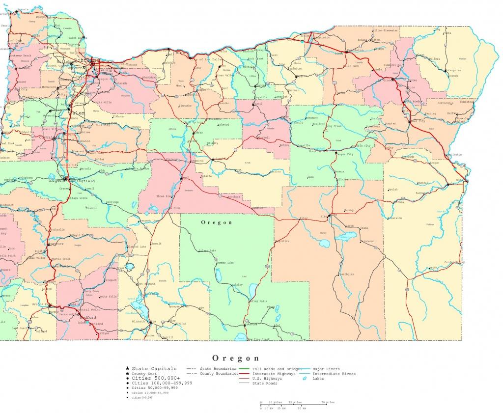 Oregon Printable Map - Printable Map Of Oregon