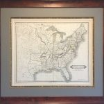 Original Map Of The Republic Of Texas And The United States   Republic Of Texas Map Framed