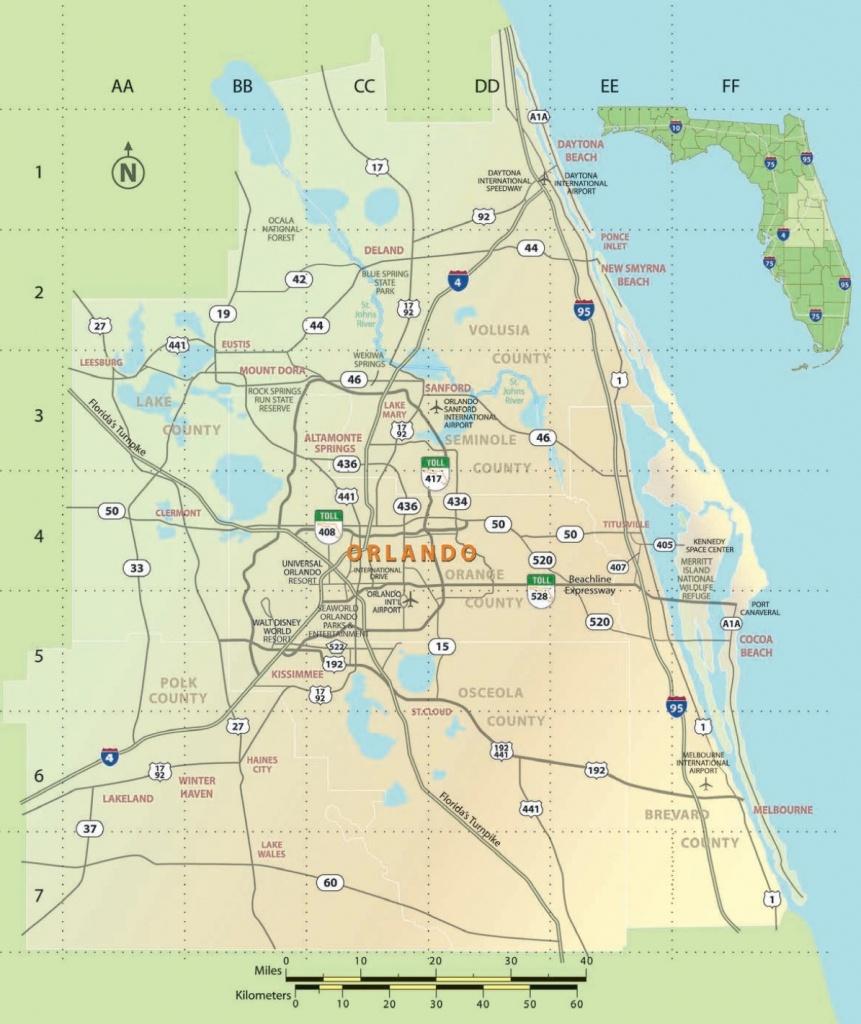 Orlando Area Map - Printable Map Of Orlando