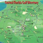 Orlando Golf Courses Map   Map Of Orlando Golf Courses (Florida   Usa)   Florida Golf Courses Map