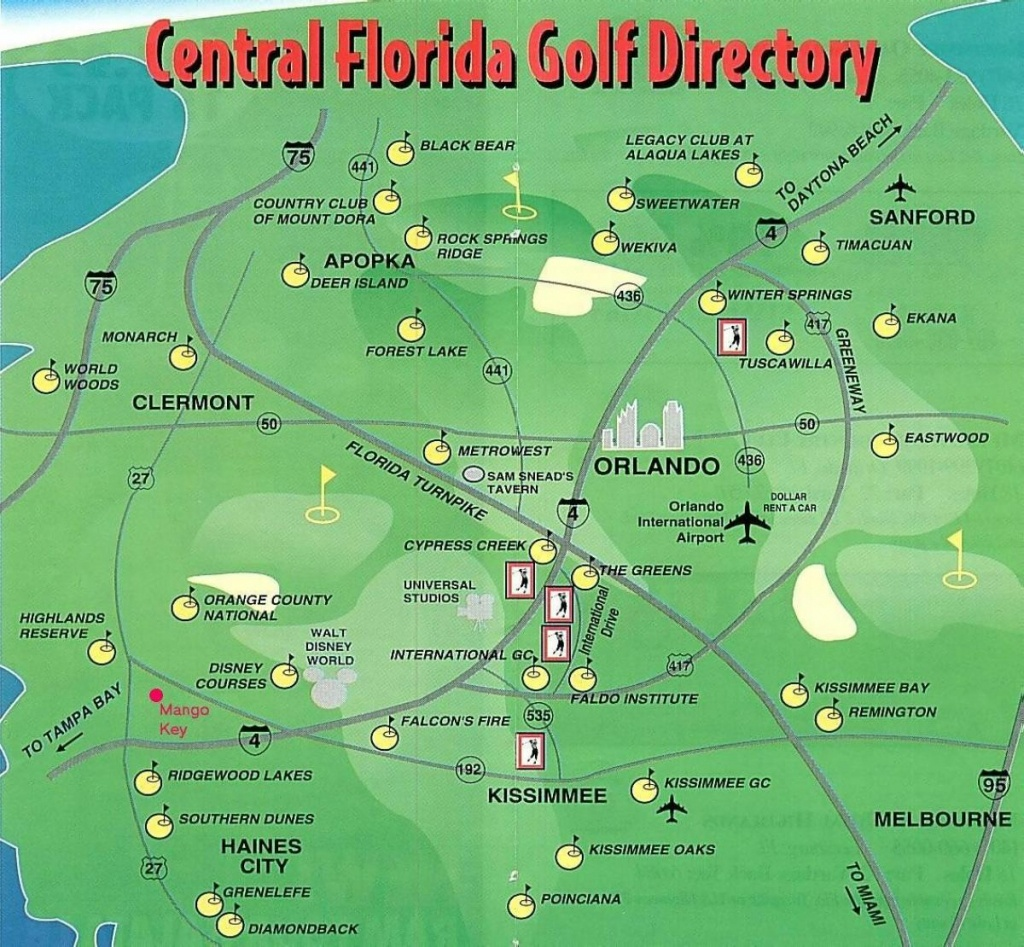 Orlando Golf Courses Map - Map Of Orlando Golf Courses (Florida - Usa) - Florida Golf Courses Map