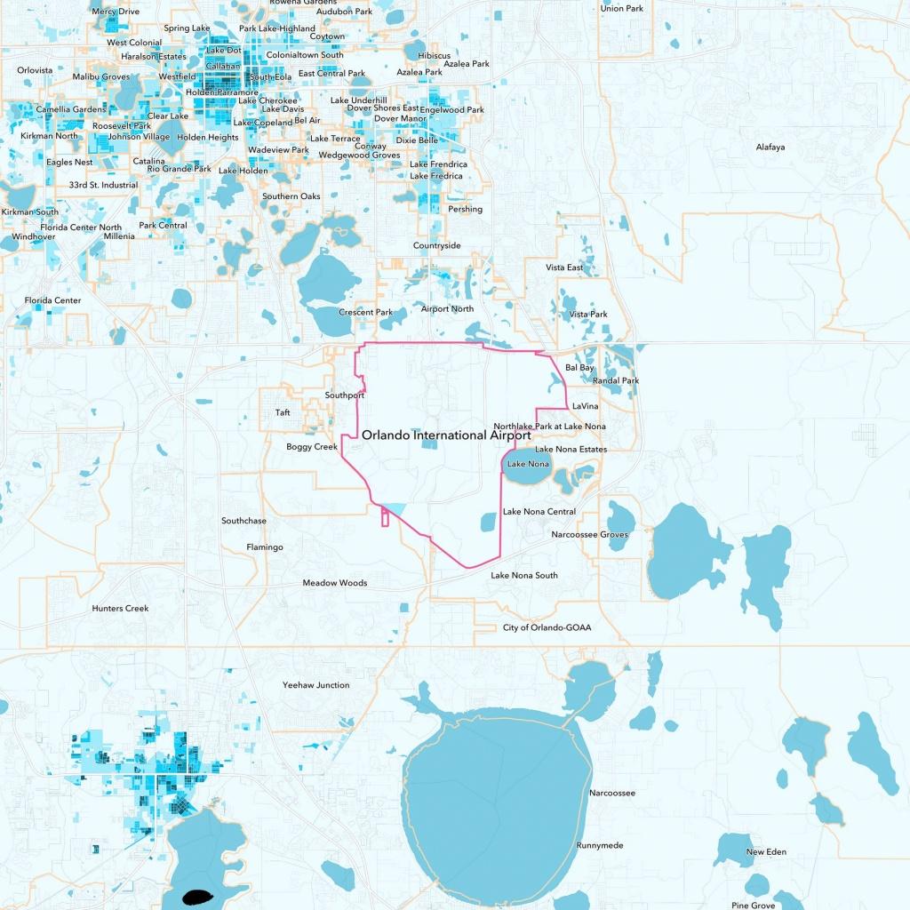 Orlando International Airport Neighborhood Guide - Orlando, Fl | Trulia - Lake Nona Florida Map