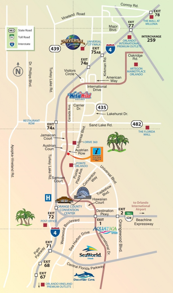 Orlando International Drive Area Map - Map Of Orlando Florida International Drive