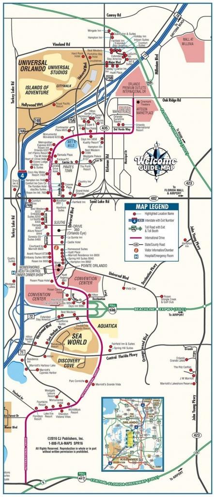Orlando International Drive Tourist Map | Travel In 2019 | Orlando - Map Of Orlando Florida International Drive