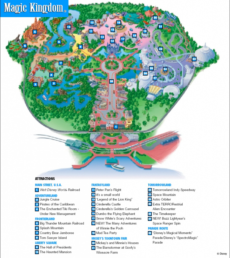 Orlando Magic Kingdom Map - Design Templates - Magic Kingdom Orlando Florida Map