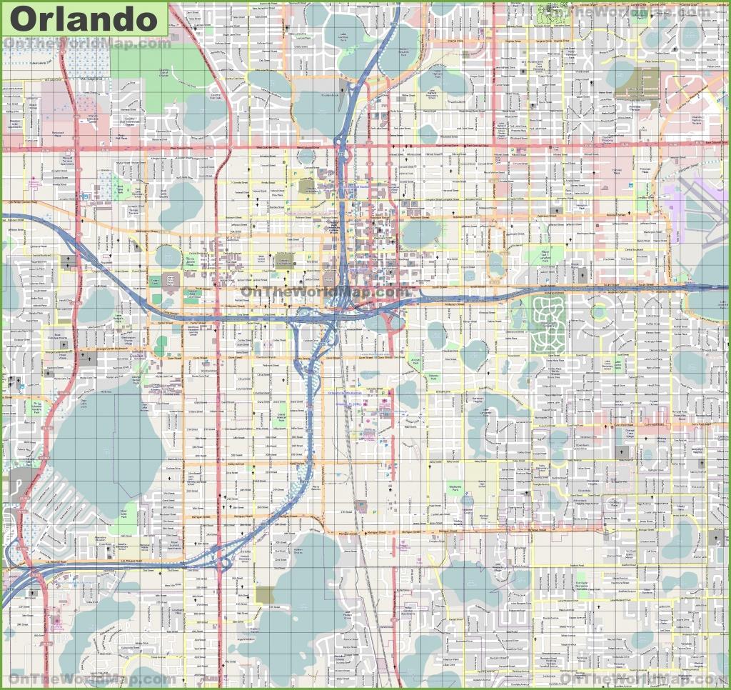 Orlando Maps | Florida, U.s. | Maps Of Orlando - Road Map Of Orlando Florida