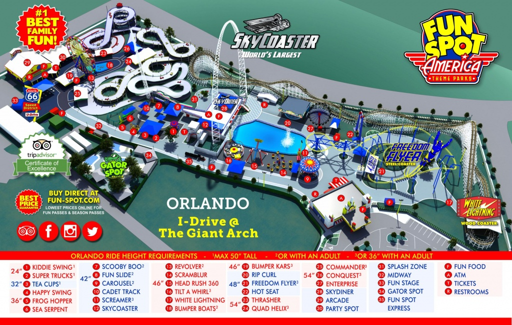 Orlando Park Map | Theme Park Map - Map Of Theme Parks In Florida