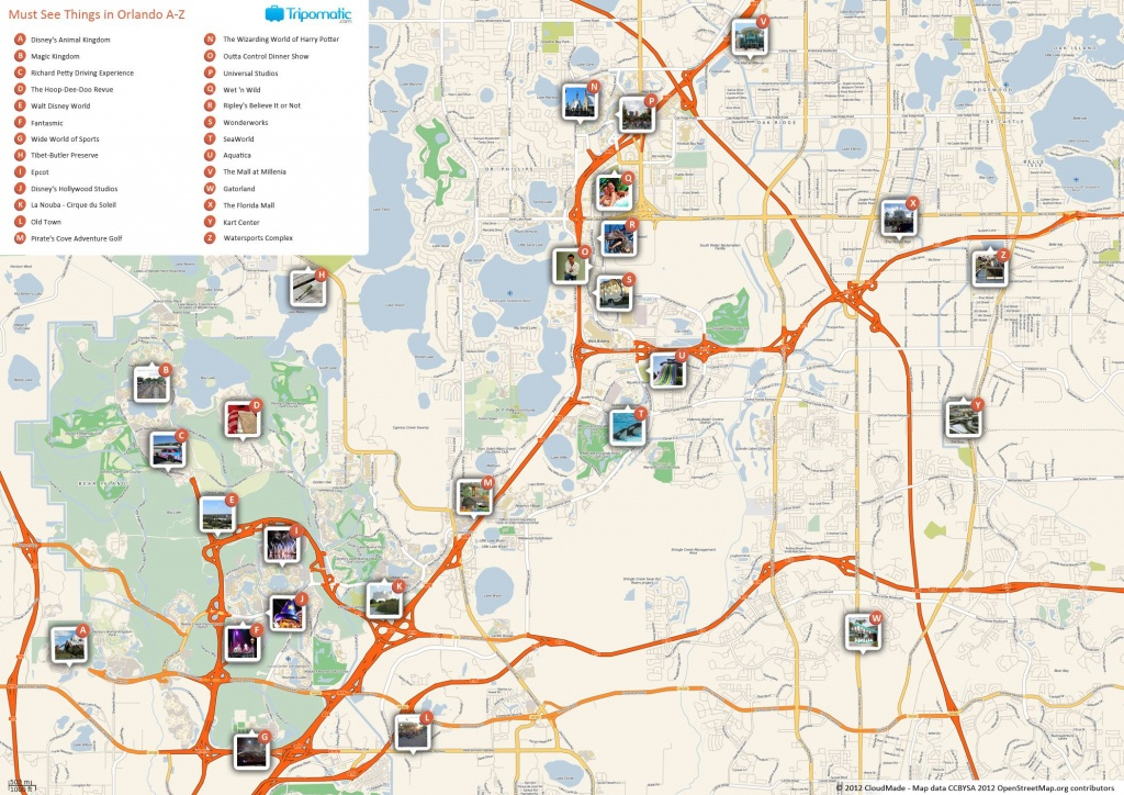 Orlando Printable Tourist Map In 2019 | Free Tourist Maps - Orlando Florida Attractions Map