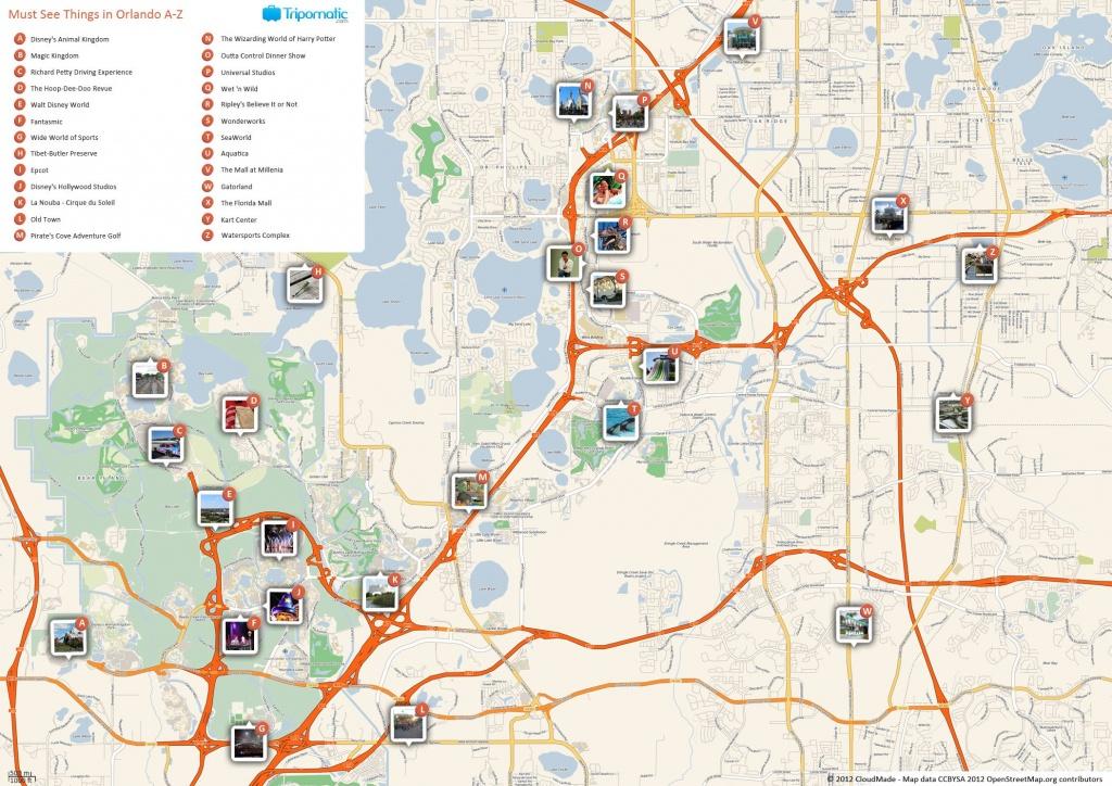 Orlando Printable Tourist Map In 2019 | Free Tourist Maps - Printable Map Of Orlando
