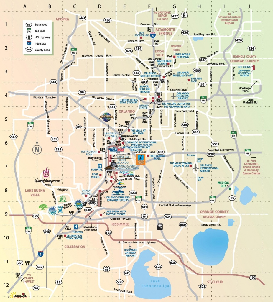 Orlando Theme Parks Map - Map Of Orlando Theme Parks (Florida - Usa) - Florida Parks Map