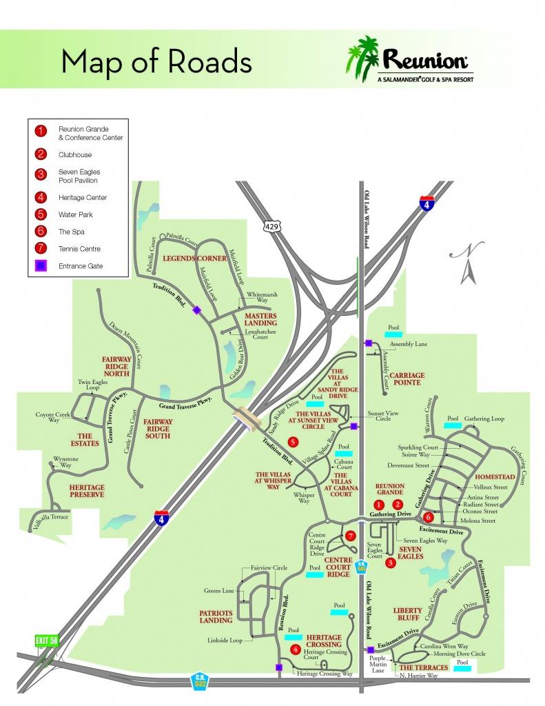 Orlando Vacation | Reunion Resort - Location & Directions |Family - Map Of Reunion Resort Florida