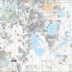 Osceola Co & Kissimmee, Fl Wall Map – Kappa Map Group   Map Of Osceola County Florida